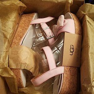 Ugg K Milley Bow Wedge Sandal k 5 6 wom 7 8